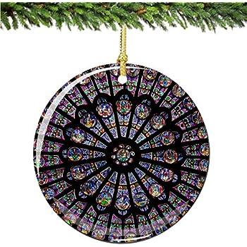 Amazon.com: Paris Landmarks Christmas Ornament with Eiffel Tower ...