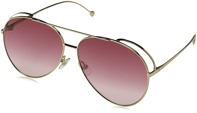 ef5d70933f4 Fendi Run Away FF 0286 S 000 Sunglasses ‑ Gold Dark Pink Shaded at ...