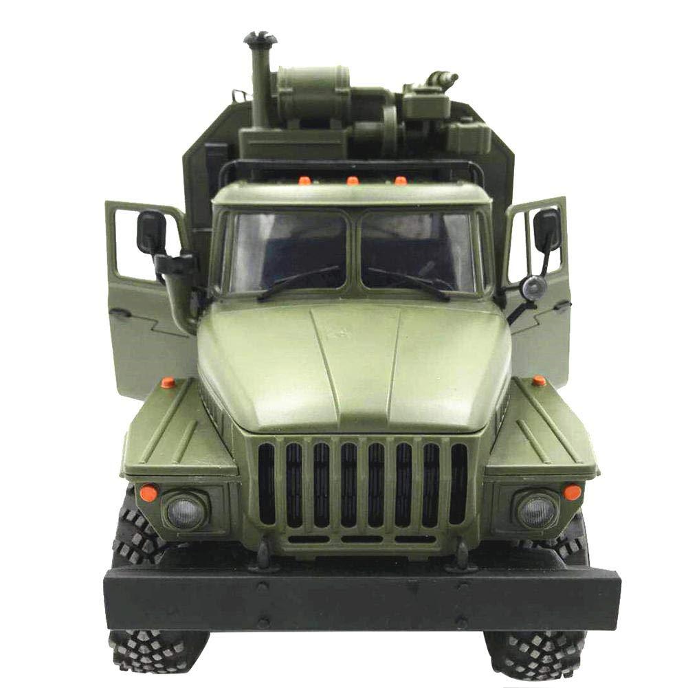 RC Auto Ferngesteuerte Militär LKW, WPL Ural 1:16 Sechs-Laufwerk Military Truck Command Kommunikation Fahrzeug Simulation Klettern RC CAR,Spielzeugauto für Erwachsenen Kinder LIJUMN