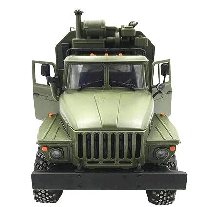 Coche que sube alejado, WPL Ural B36 1:16 seis-conduzca el carro militar de la comunicación del comando del vehículo a escala completa de la ...