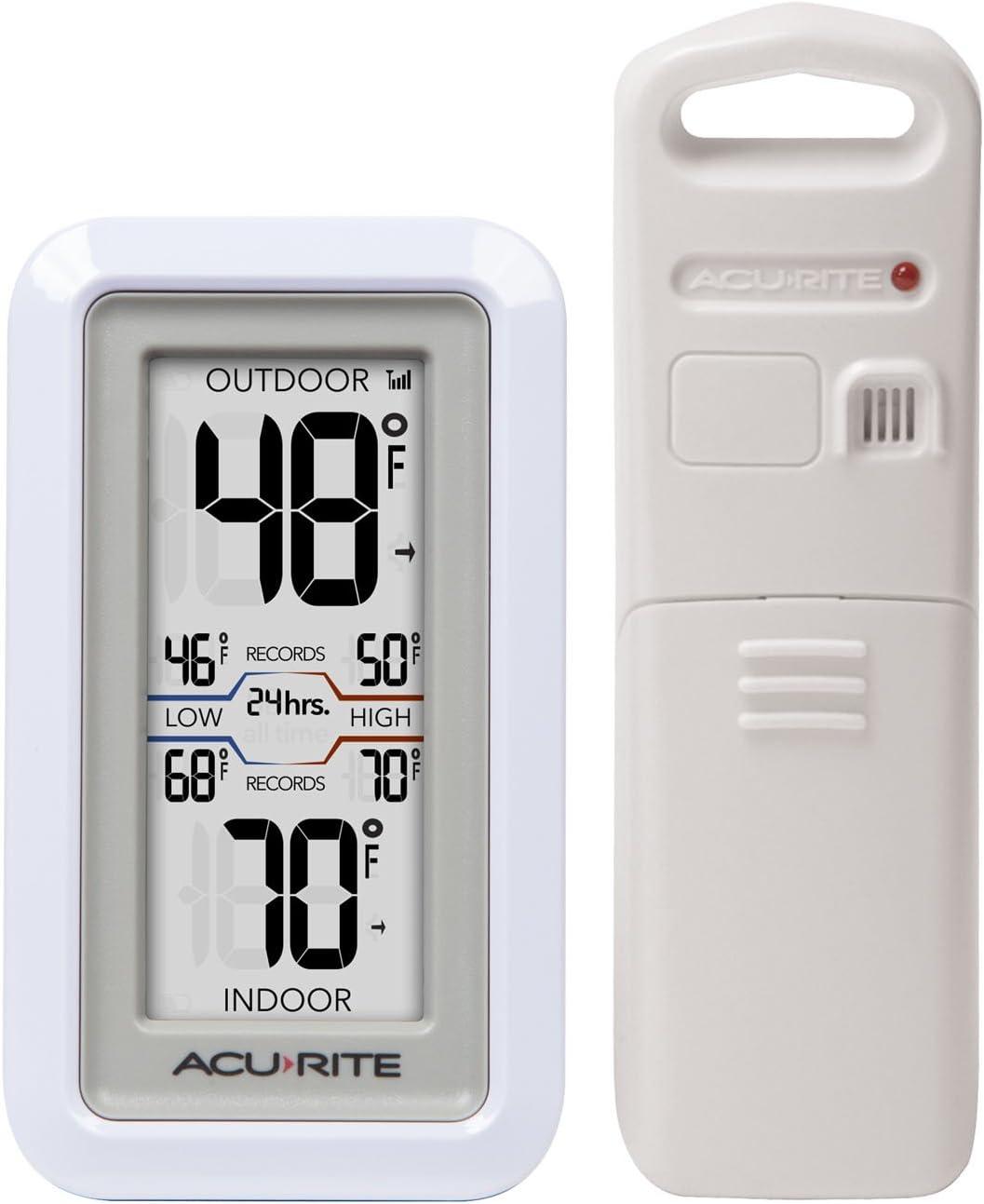 Acurites Wireless Indoor//Outdoor Brass Thermometer