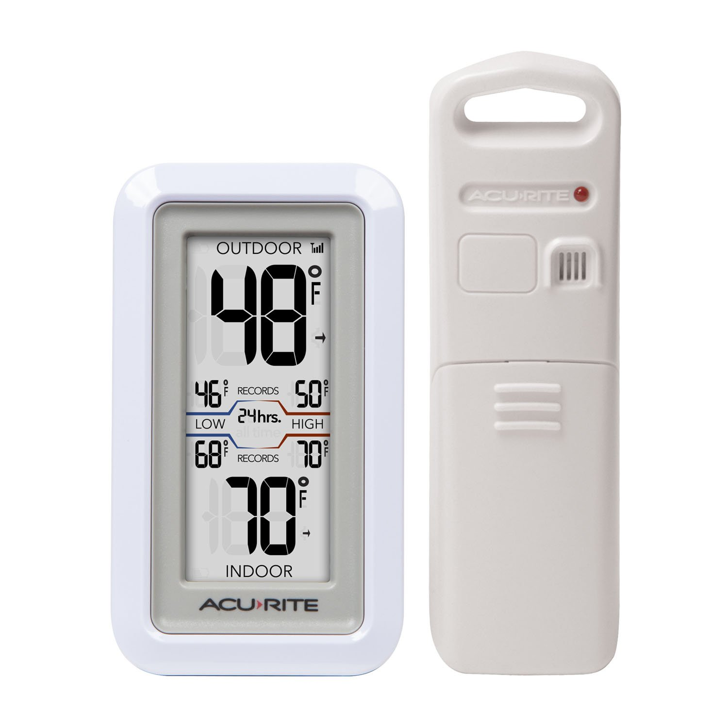 AcuRite 02043 Digital Thermometer with Indoor/Outdoor Temperature Chaney Instruments