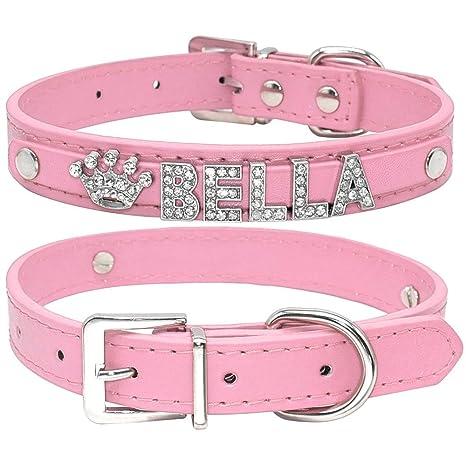 WXPC Bling Rhinestone Cachorro Collares de Perro Personalizados ...