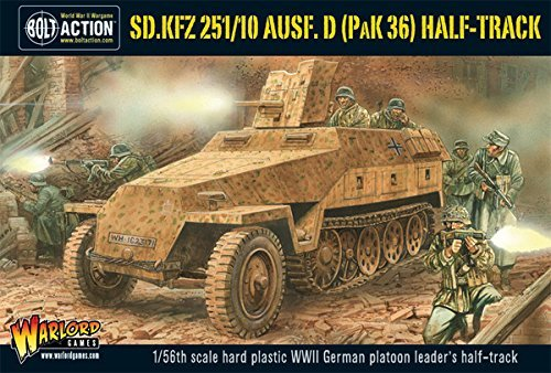 Bolt Action Sd.Kfz 251/10 ausf D  Half Track 1:56 WWII Military Wargaming Plastic Model Kit