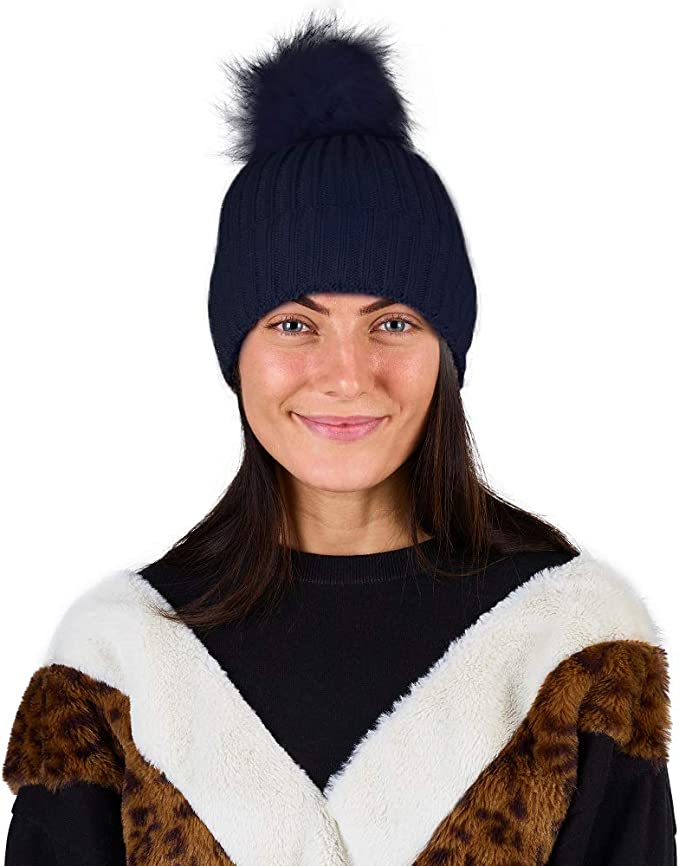 CityComfort Gorra Mujer de Lana Gorro de Mujer Niña Nieve con ...