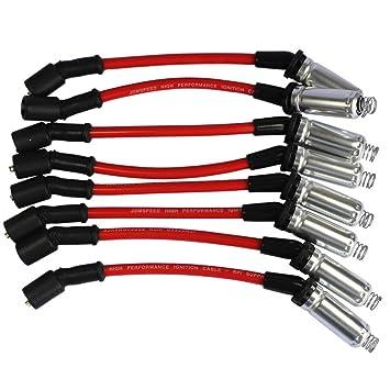 zreal Trade-Shop Bujía de encendido Cable para 2000 - 2009 Chevy GMC V8: Amazon.es: Electrónica