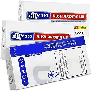 HGFDSA HIV Self Test - Quick Check in Home Test of Saliva/Blood Home Test Combination Test Strip Kit, Three-line Test Paper Detection(3 Packs),Blood test2 + Saliva test1