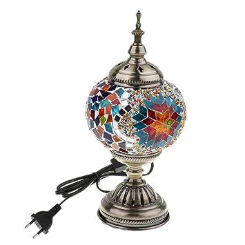 B Blesiya Lámpara de Mesa Mosaico Turco Accesoriso de ...