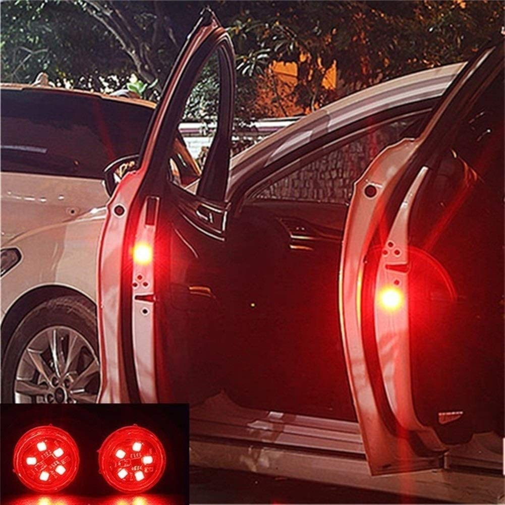 Emitting Color : 2pcs 5 led Red Nobranded 5 LEDs Auto-T/ür-/Öffnungswarnleuchten Wireless-magnetische Design-Strobe Flashing Anti Auffahrunfall Sicherheitsleuchten