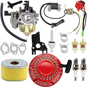 Venseri Carburetor GX160 Carburetor GX140 Carb Kit Ignition Coil Air Fuel Filter for Honda GX140 GX 160 GX168 GX200 5HP 5.5HP 6.5HP Engine Motor Parts