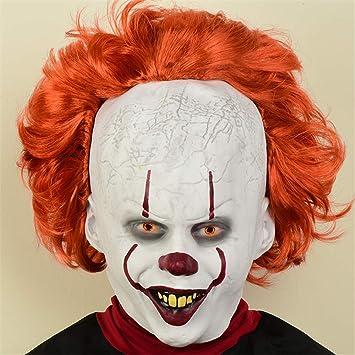 SWAOOS Payaso máscara Halloween Horror máscaras Cosplay Stephen ...
