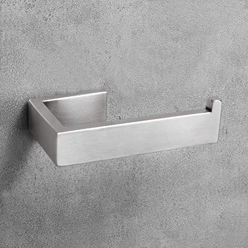 Nolimas SUS304 Stainless Steel Toilet Paper Roll Holder Wall Mounted Bathroom Hardware Rust Proof Toilet Tissue Holder,Nickel Brushed - Holder Finish Toilet Paper