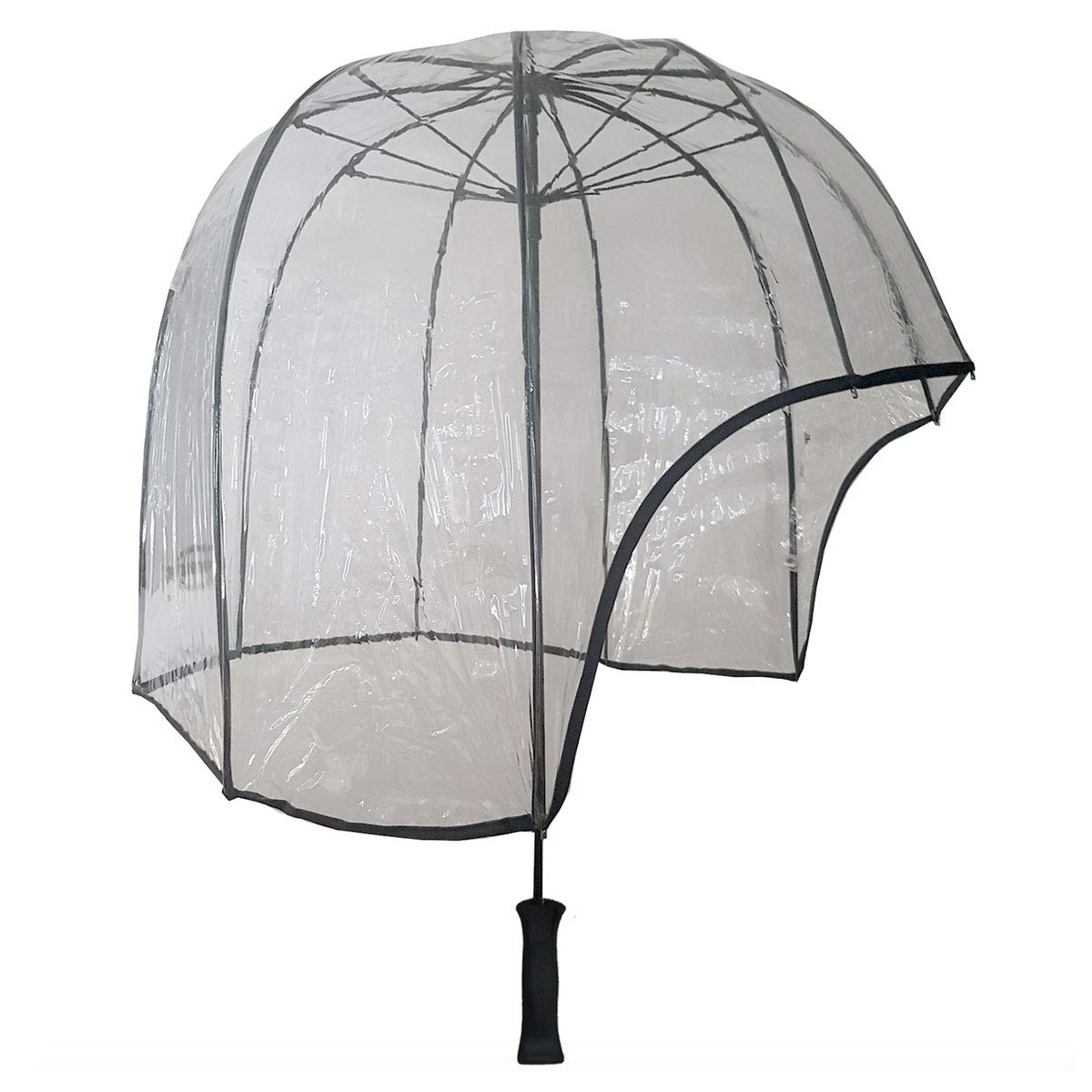 6cf3b6b53bcd8 Rainshader All Clear Windproof Dome Umbrella Versatile for Men and Women  Strong Lightweight Stormproof Ergonomic Handle and includes Shoulder Strap:  ...