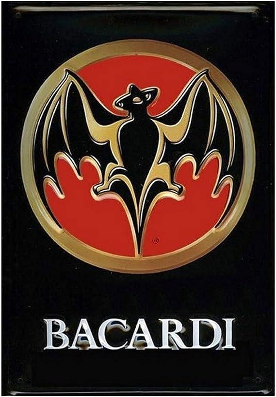 La Placa publicitaria Bacardi Logo Rhum – Relief: Amazon.es ...