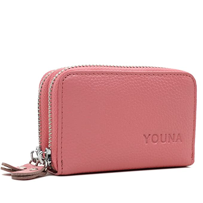 credit card walletyouna rfid blocking genuine leather credit card holder for women pink - Pink Card Holder