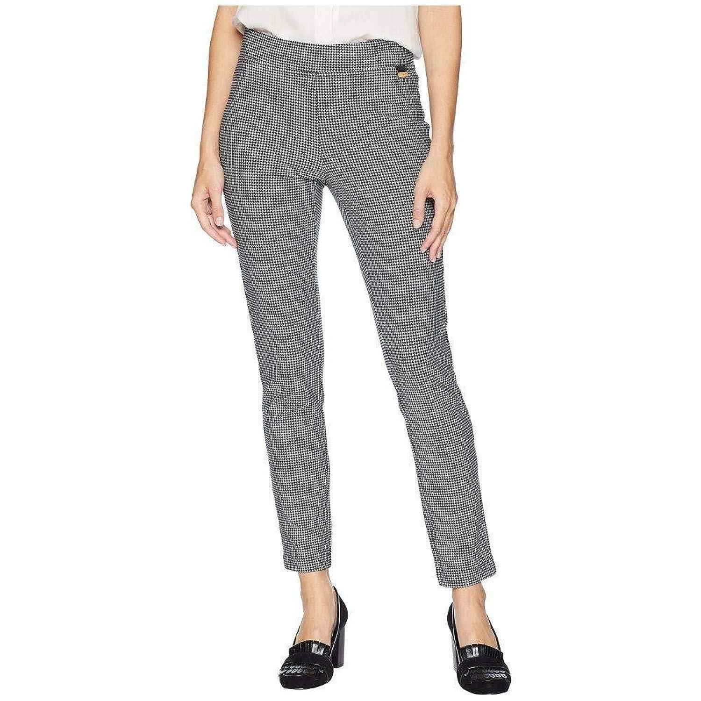 (カルバンクライン) Calvin Klein レディース ボトムスパンツ Houndstooth Pull-On Pants [並行輸入品] B07GWCBB5H LG-28.5