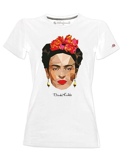 pacchetto elegante e robusto migliore qualità moderno ed elegante nella moda Blasfemus T-Shirt Frida Kahlo Ufficiale stilizzata Stile Poligonale -  Maglietta Donna