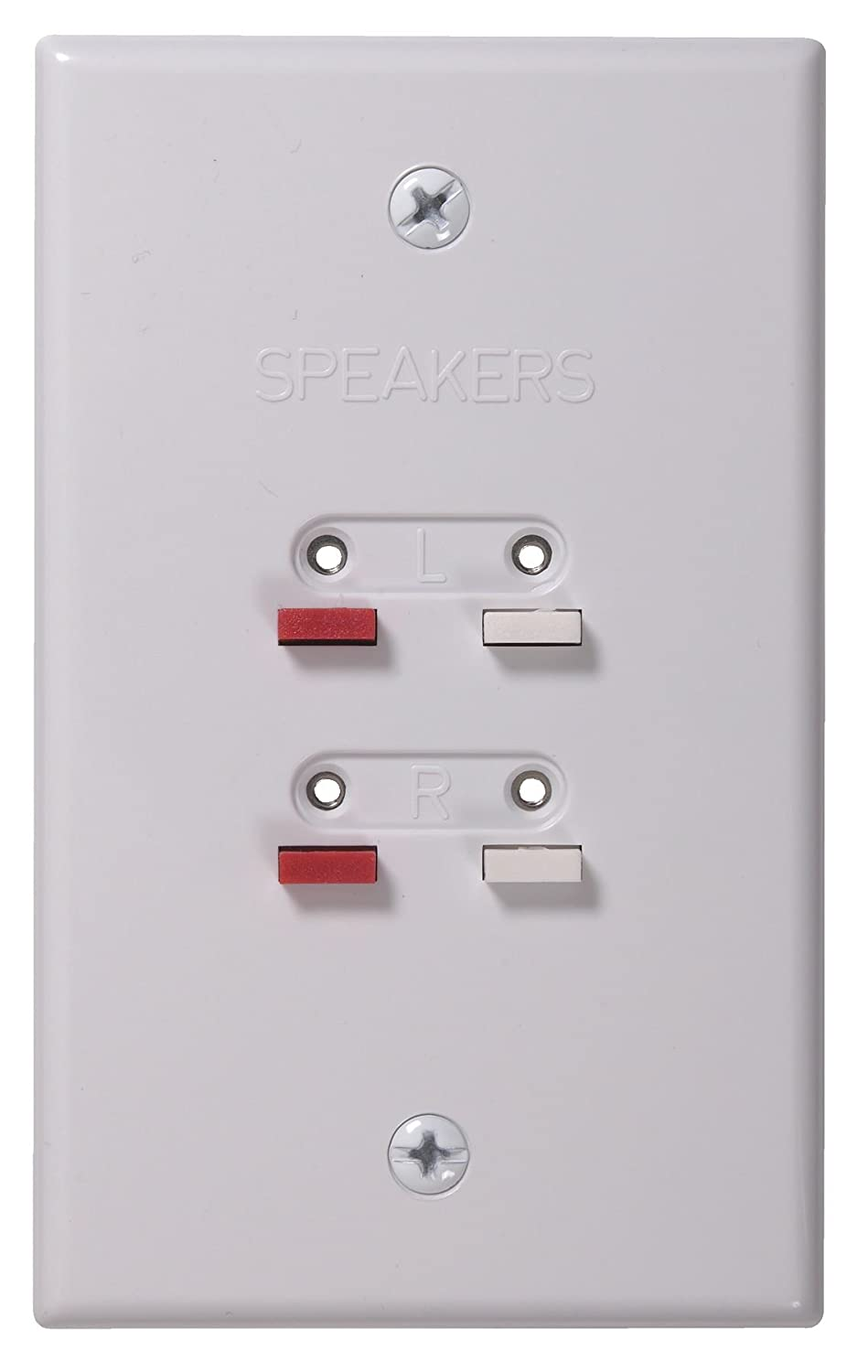RCA Speaker Wire Wall Plate, White CAH300WH