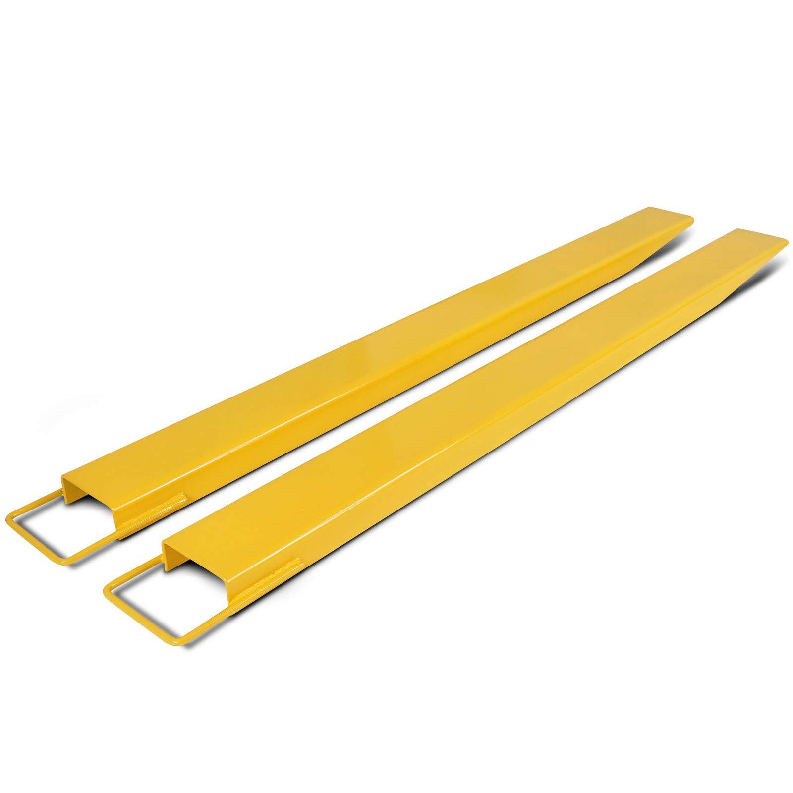 ECOTRIC 84'' Pallet Fork Extensions for forklifts Lift Truck Slide on Steel 5.5''
