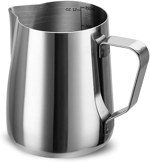 Stainless Steel Milk Frothing Pitcher Jug Coffee Cream Latte Art Pourer 30 Oz