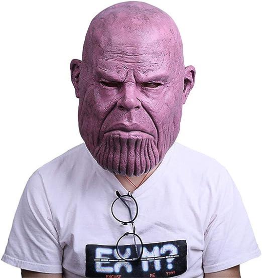 Mask- Máscara Calva Capucha Avengers Látex Fiesta de Disfraces de ...