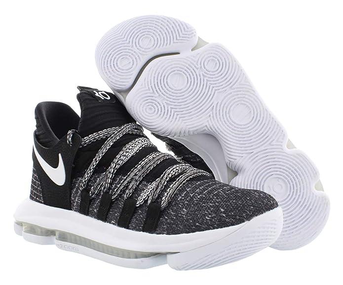 Amazon.com | Nike Zoom KD10 Kids Basketball Shoes (7 M US Big Kid, Black/White) | Walking