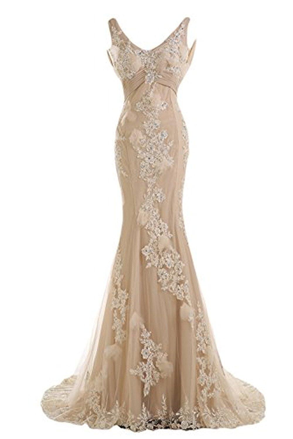 vestido de festa longo Sparkle V Neck Fishtail Evening Dress 2015 vestido de formatura Long Mermaid Backless Prom Dresses at Amazon Womens Clothing store: