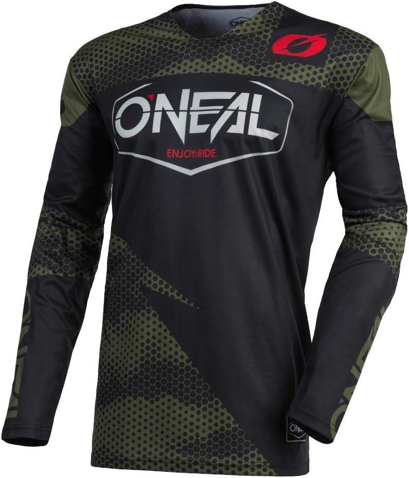 Oneal Mayhem-Lite Covert Charcoal//Neon Motocross Dirt bike Offroad MX Jersey Pants Combo Package Riding Gear Set Jersey Adult Medium//Pants W30