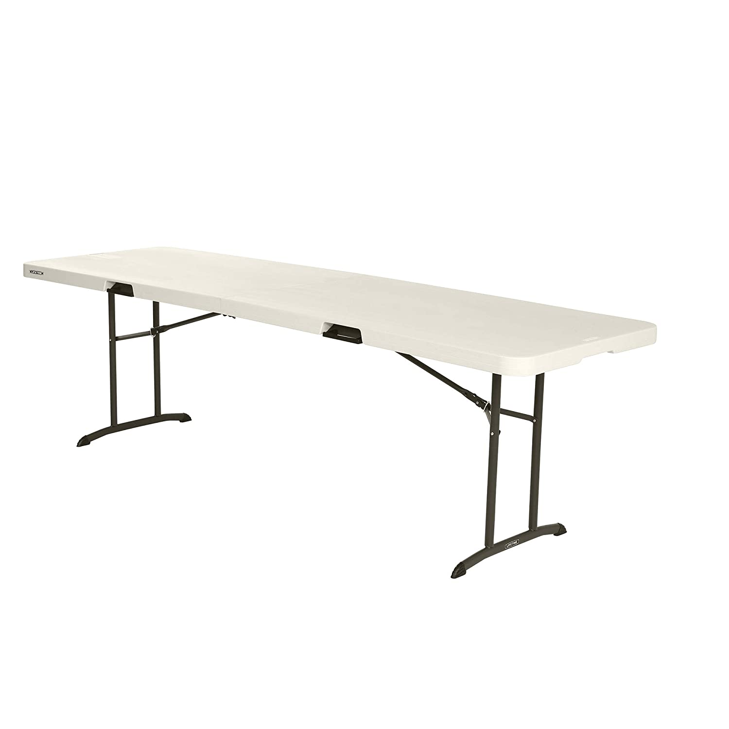 Lifetime 80175 Fold In Half Banquet Table, 8 Feet, Almond
