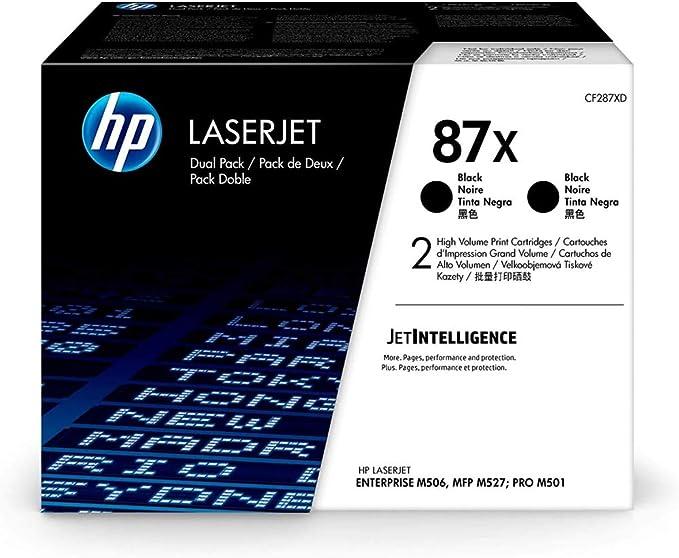 Hp 87x Cf287xd Multipack Original Toner 2x Schwarz Mit Hoher Reichweite Für Hp Laserjet Enterprise M506 Hp Laserjet Enterprise M527 Bürobedarf Schreibwaren