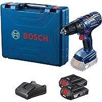 Parafusadeira Furadeira Impacto Bosch GSB 180-LI 18V com 2 baterias, 1 carregador e maleta