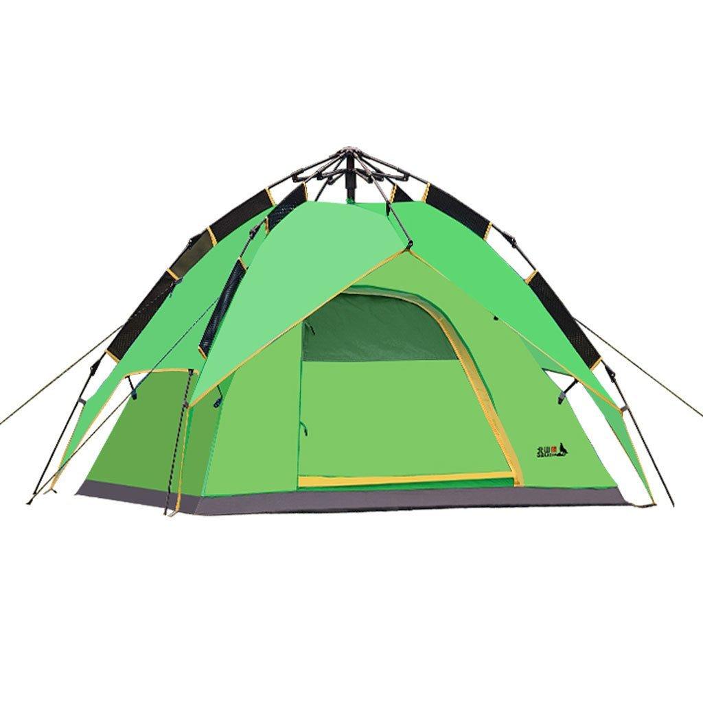 3-4 Personen automatisch im Freien Zelt Doppelstock gegen Sturm Geschwindigkeit geöffnet Campingausrüstung liefert
