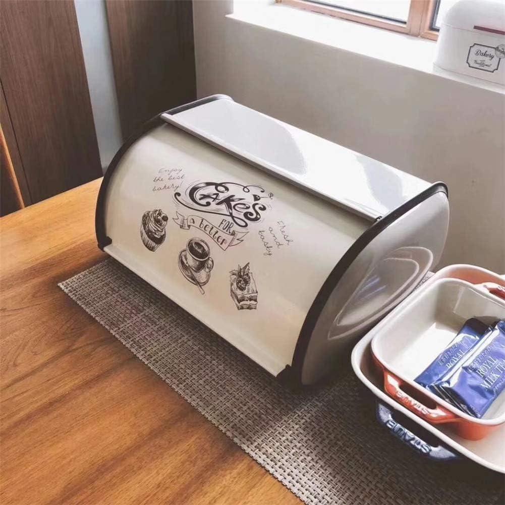 Sziqiqi Contenitore per Pane Vintage Contenitore per Pane Contenitore da 33 cm con Roll-Top e Finiture Protettive per Mantenere Il Pane Panini Biscotti Muffin al Forno Buono Fresco e Saporito Blu