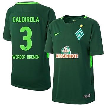 Nike Werder Bremen Home Caldirola Jersey 2017/2018 (Oficial de impresión), Verde