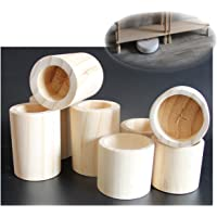 4 × Meubelverhogers Bedverhogers/Lift Bed Risers, Stoel Tafel Bureau Bank Bank Massief Houten Verhogers Liften…
