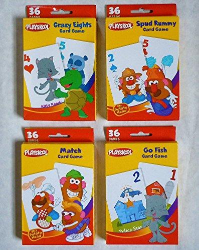 (Playskool Card Games 4-Pack (Crazy Eights, Go Fish, Mr. Potato Head Spud Rummy & Mr. Potato Head Match Game) )