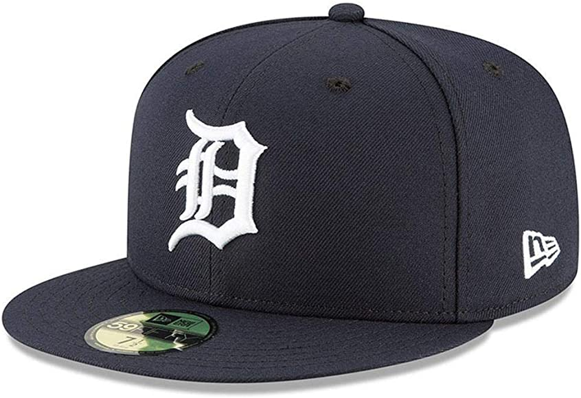 new style e02ca 1ae3b New Era 59Fifty Hat Detroit Tigers MLB Authentic On Field Home Navy Blue  Fitted Cap (