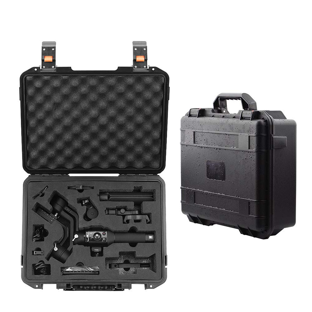 Elaco Waterproof Safety Suitcase Compatible with DJI Ronin-SC Waterproof Protective Portable Hardshell Storage Bag Carry Case by Elaco1