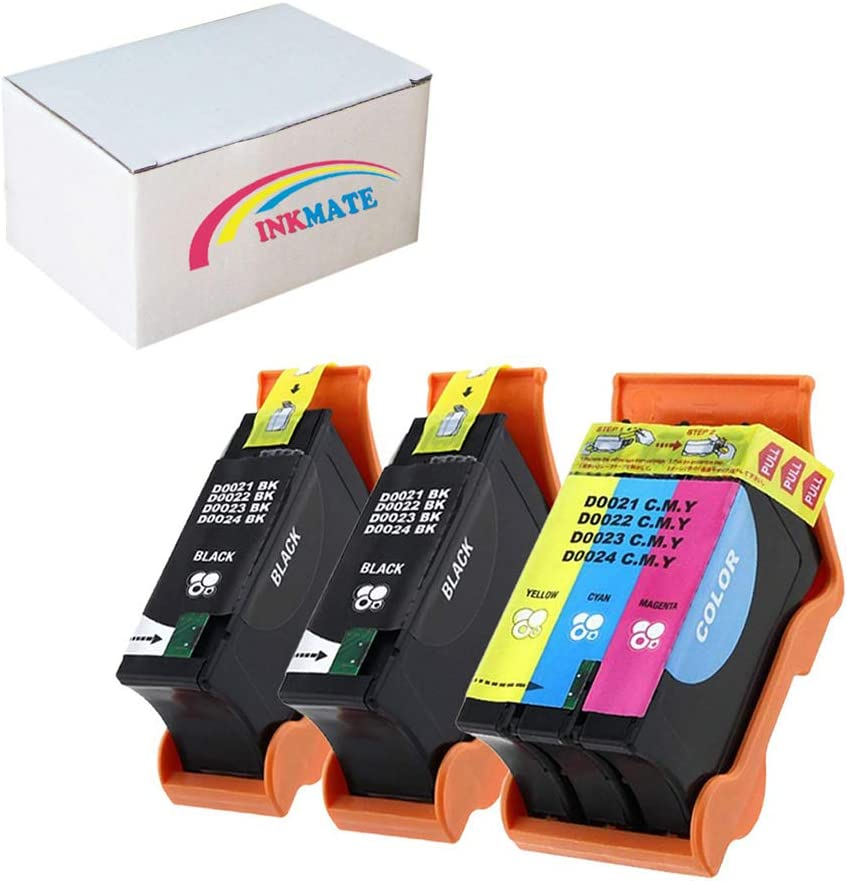 INKMATE Compatible Ink Cartridge Replacement for Dell Series 21 22 23 for Dell All-in-One Printers V313 V313w V515w P513w P713w V715w(2Black/1Tri-Color,3Pack)
