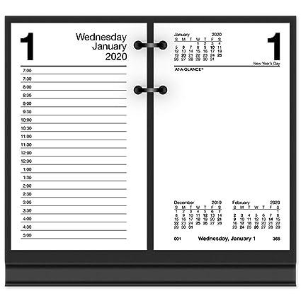 Daily Desk Calendar 2020 Amazon.: AT A GLANCE 2020 Daily Desk Calendar Refill, 3 1/2
