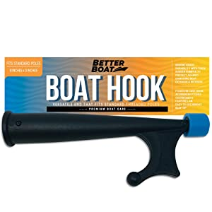 "Boat Hook with Standard Pole Screw End 3/4"" Thread 
