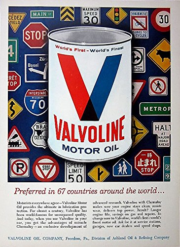 1965-valvoline-motor-oil-preferred-in-67-countries-road-signs-of-the-world-color-ad-usa-nice-vintage