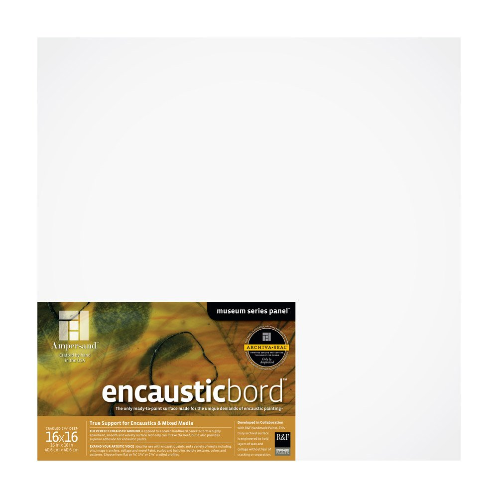18X18 Inch 1.5 Inch Depth Cradle ENC151818 Ampersand Encausticbord Hardboard Panel for Encaustics and Mixed Media