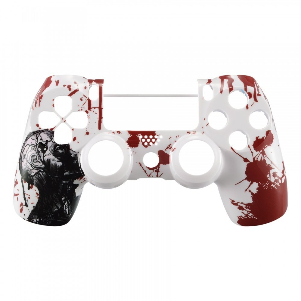 Marbled Morale Faceplate Cover Replacement Kit for Playstation 4 PS4 Slim PS4 Pro CUH-ZCT2 JDM-040 JDM-050 JDM-055 Controller eXtremeRate Hydro Dipped Front Housing Shell Case