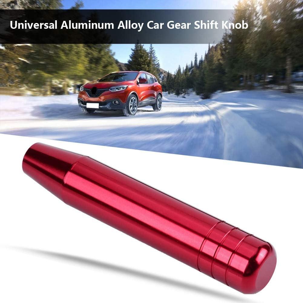 Schaltknauf Schwarz Universal Aluminiumlegierung Auto Manuelle Schaltknauf Griff Schalthebel 18cm