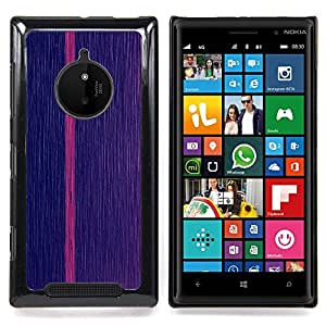 Pink Vertical Line Stripe Minimalist Caja protectora de pl??stico duro Dise?¡Àado King Case For Nokia Lumia 830