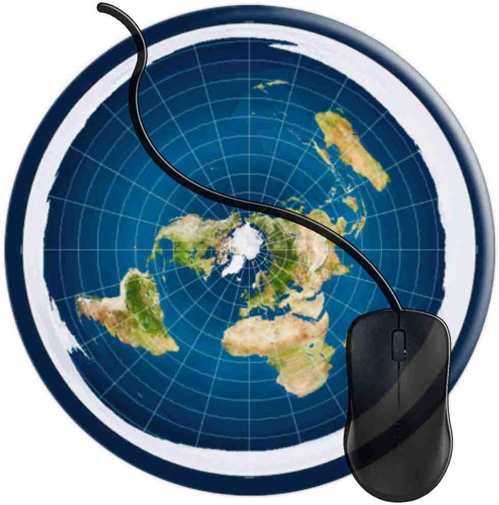 Mouse Pad for Computers,Gaming Mouse-Pads Office for Laptop Mouse Mat for PC Non Slip Mice Pad Flat Earth Map Model 2T680