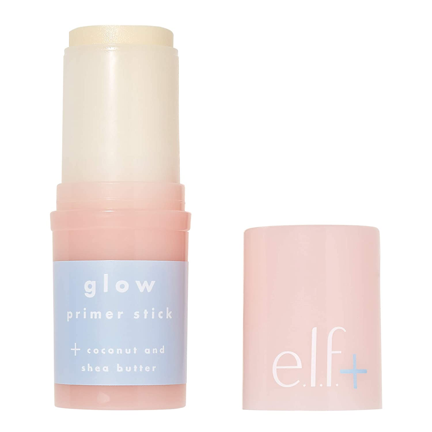 e.l.f.Elf+ Glow Primer Stick Lightweight, Hydrating, Luminizing Primes, Preps, Smooths, Nourishes Infused with Coconut and Shea Butter, Shimmer 0.53 Oz