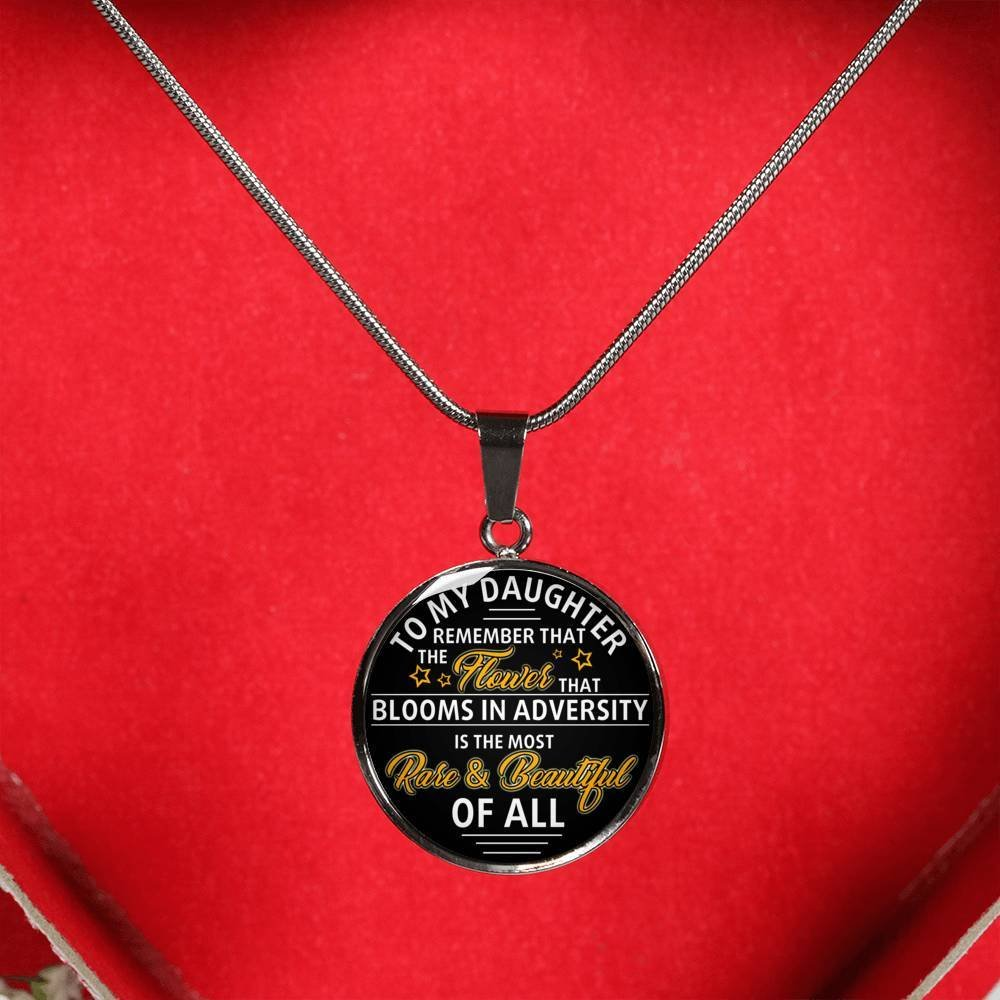 Stainless Steel Pendant AZ Gift Inspirational To My/Daughter/Necklace Chain For Your Kids On Birthday Christmas