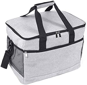 Sungpunet Picnic Hamper Hnad Bag Thermal Insulated Picnic Cooling Case Outdoor Food Carry Bag for Outdoor Eating